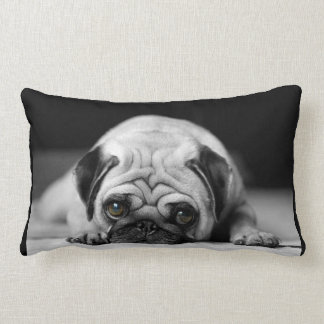 Sad Pug Lumbar Cushion