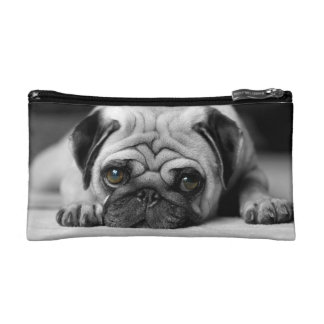 Sad Pug Makeup Bag