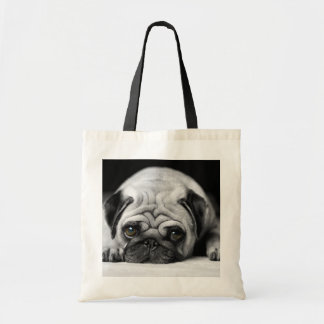 Sad Pug Tote Bag