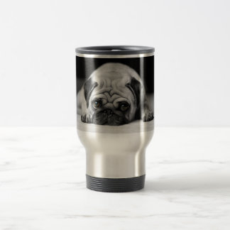 Sad Pug Travel Mug