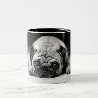 Sad Pug Two-Tone Mug