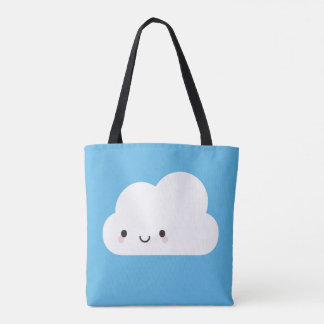 Sad Rain Cloud & Happy Kawaii Cloud Tote Bag