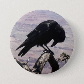 Sad Raven Button 01