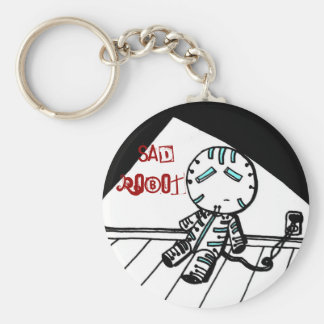 Sad Robot Keychain