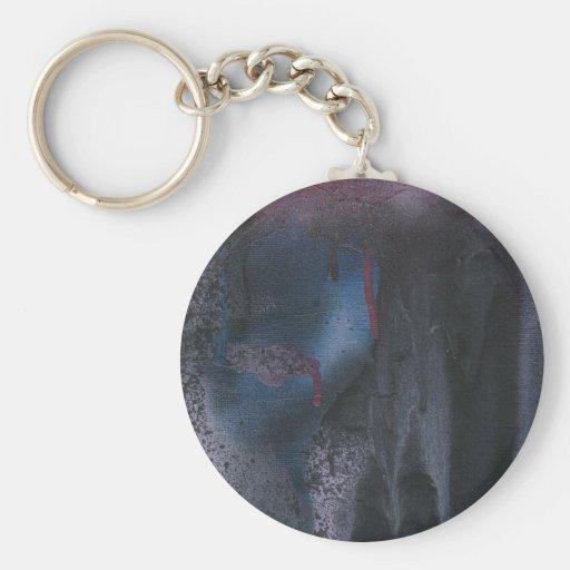 sad sandra basic round button key ring