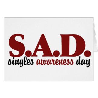 SAD Singles Awareness Day Card