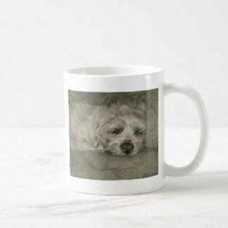 Sad sleepy dog coffee mug