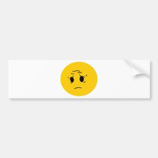 sad smiley bumper sticker