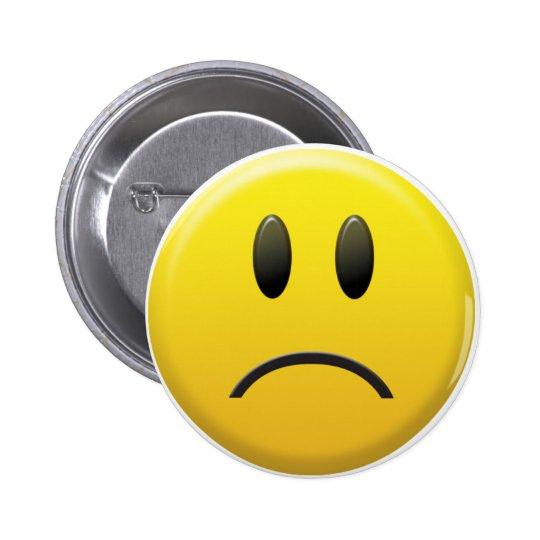 Sad Smiley Face 6 Cm Round Badge
