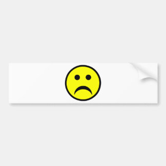 Sad Smiley Face Bumper Sticker