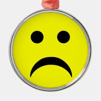 Sad Smiley Face Christmas Ornament