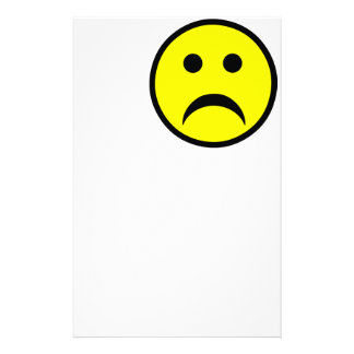 Sad Smiley Face Customized Stationery