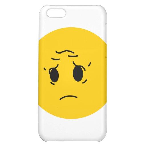 sad smiley iPhone 5C cover
