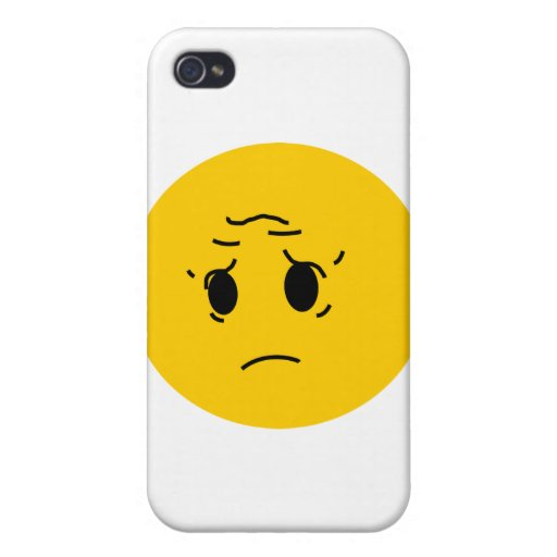 sad smiley cover for iPhone 4