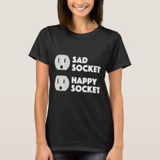 Sad Socket Happy Socket Cute Face Design T-Shirt