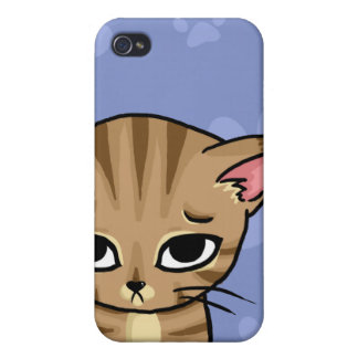 Sad Tabby cat Kitten Covers For iPhone 4