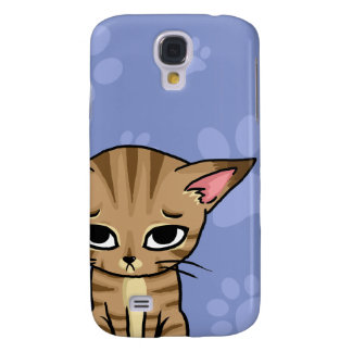 Sad Tabby cat Kitten Galaxy S4 Case