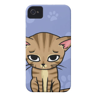Sad Tabby cat Kitten iPhone 4 Case
