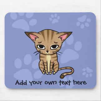 Sad Tabby cat Kitten Mouse Mat