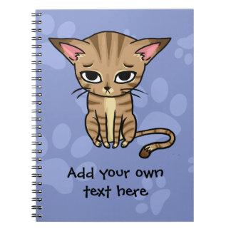 Sad Tabby cat Kitten Spiral Notebook