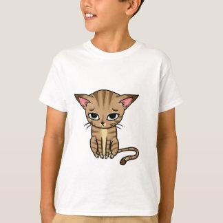 Sad Tabby cat Kitten T Shirt