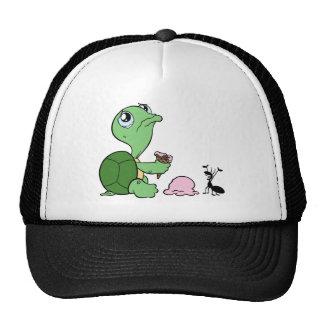 Sad Turtle Happy Ant Cap