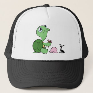 Sad Turtle Happy Ant Trucker Hat