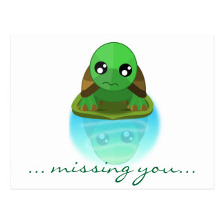Sad Turtle Postcard