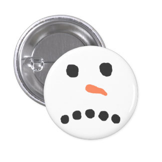 Sad Unhappy Snowman Face Bah Humbug 3 Cm Round Badge