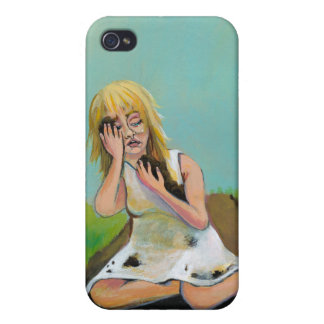 Sad woman finds comfort in soil earth dirt iPhone 4/4S cover