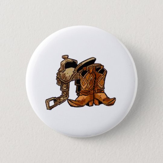 Saddle and Boots 6 Cm Round Badge