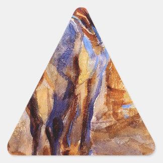 Saddle Horse, Palestine by John Singer Sargent Triangle Sticker