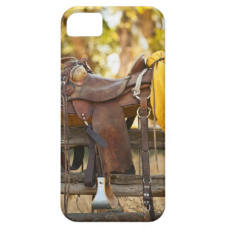 Saddle on fence iPhone 5 cover