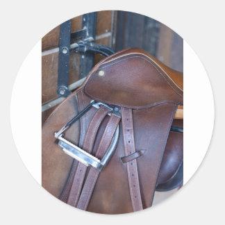 Saddle Round Sticker