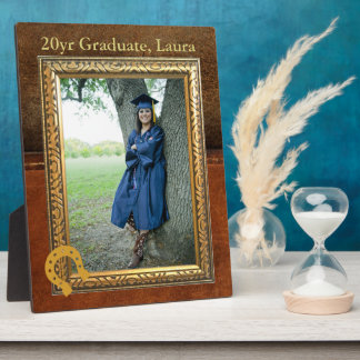Saddle Up Tan Faux Leather Graduate Display Plaque