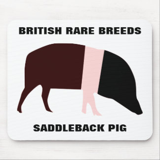 Saddleback Pig Customizable Mousepad