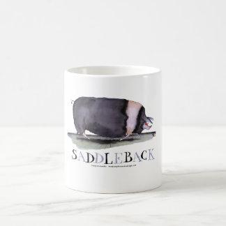 saddleback pig, tony fernandes basic white mug