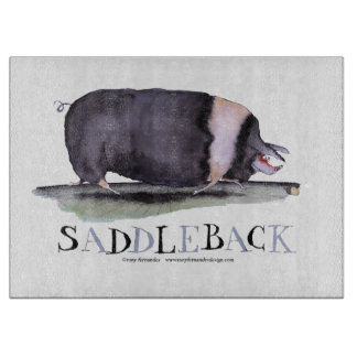 saddleback pig, tony fernandes cutting board