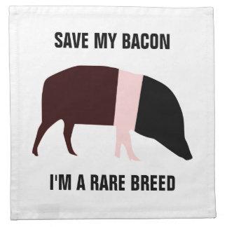 Saddleback Rare Breed Pig Napkin