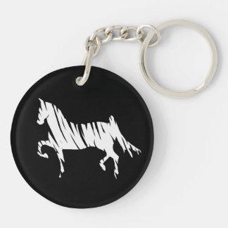 Saddlebred Art Double-Sided Round Acrylic Key Ring