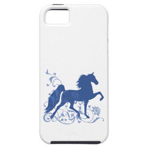 Saddlebred Five Gait Floral Blue iPhone 5/5S Cases