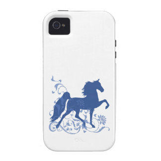 Saddlebred Five Gait Floral Blue iPhone 4 Covers