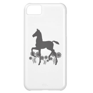 Saddlebred Foal Flowers Gray Case For iPhone 5C