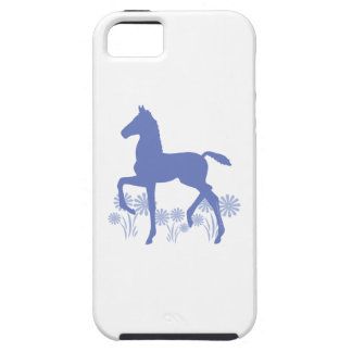 Saddlebred Foal Flowers in blue Case For The iPhone 5