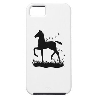 Saddlebred Foal Silhouette Butterflies iPhone 5 Cases