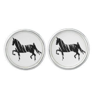 Saddlebred Horse Art Cuff Links