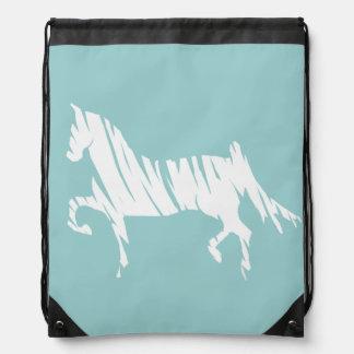 Saddlebred Horse Art Drawstring Bags