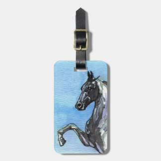 Saddlebred Horse Luggage Tag
