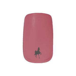 Saddlebred Horse Fingernail Transfer