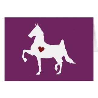Saddlebred horse silhouette greeting card